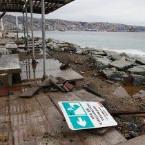 [FOTOS] Valparaíso: graves daños en paseo Wheelwright por marejadas