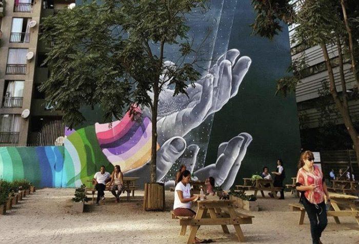 Plaza de bolsillo en Santo Domingo, Santiago