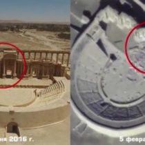 [VIDEO] Rusia difunde registro con nuevos destrozos en ruinas de Palmira a cargo de Estado Islámico