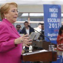 Bachelet inaugura año escolar en la Araucanía y pide