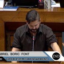 """[VIDEO] La intervención del diputado Gabriel Boric en el Día Internacional de la Mujer: """"El Congreso permanece impermeable a las demandas feministas"""""""
