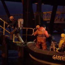 [VIDEO] Greenpeace despliega activistas en Isla Riesco para denunciar otra gran amenaza de los mares de Magallanes