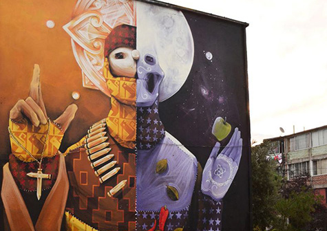 Abundancia, muerte, fiesta y religión: El Arte urbano de Inti Castro
