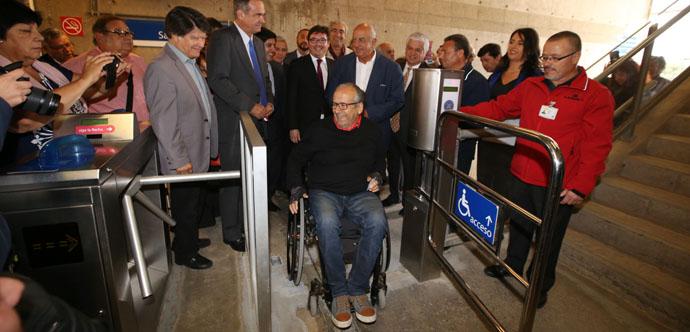 Metro Valparaíso inaugura rampas y ascensores en Estación Peñablanca en el marco de su plan de accesibilidad