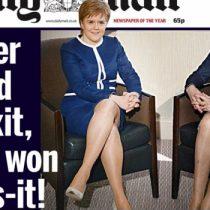 Polémica en Reino Unido por portada centrada en piernas de ministras