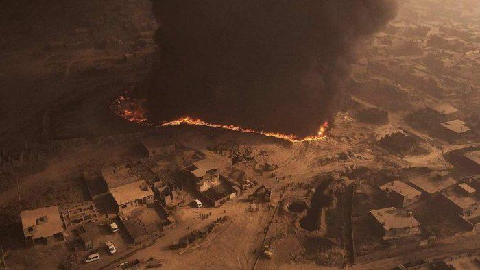 El día en que Estado Islámico prendió fuego al desierto de Irak