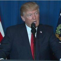 [VIDEO] Donald Trump anuncia que ordenó un ataque militar dirigido contra la base aérea en Siria