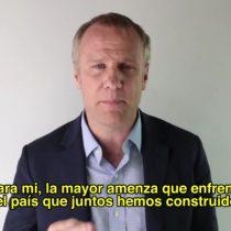 [VIDEO] Felipe Kast critica a sus contrincantes Piñera y Ossandón y apunta a una