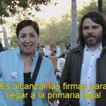 [VIDEO] Beatriz Sánchez y Alberto Mayol protagonizan llamado a inscripción en Revolución Democrática de cara a las primarias