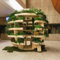 Un huerto urbano con forma de esfera para acercar la naturaleza a la ciudad