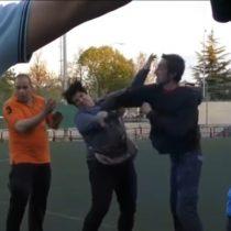 [VIDEO] El partido de una liga juvenil española que terminó con la agresión de un padre a una madre