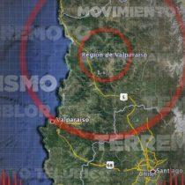 Sismo de 6,0 Richter se registró en Valparaíso