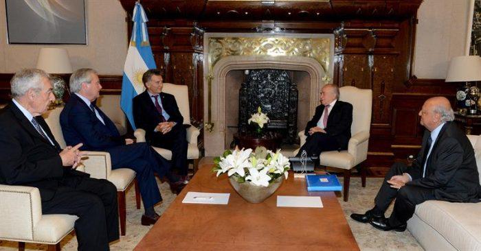 Andrés Zaldívar se reune con presidente Macri en Buenos Aires