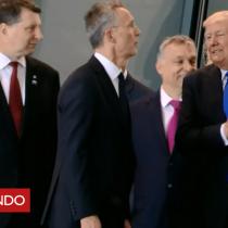 [VIDEO] El momento en el que Donald Trump empuja al primer ministro de Montenegro en una reunión de la OTAN