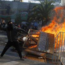 [FOTOS] Incidentes en marcha paralela a la CUT