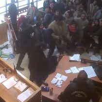 [VIDEO] El registro del incidente al interior del tribunal de Collipulli tras cierre de investigación por secuestro de Lonko