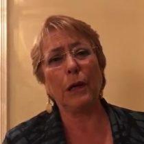 [VIDEO] Presidenta Michelle Bachelet envía condolencia a familiares de fallecidos en Monte Patria
