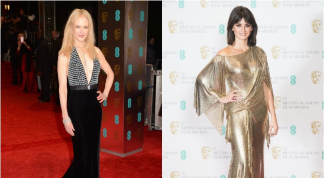 3db0645a Nicole Kidman y Penélope Cruz se lucen en la Alfombra Roja de los Bafta  2017 - El Mostrador