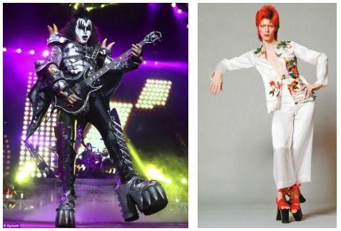 6bf36aa0 En el mundo de la música, los hombres han usan tacos o plataformas desde  hace tiempo, sobre todo en referentes del glam rock como Genne Simonds de  Kiss o ...