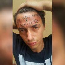 [VIDEO] Detienen en Brasil a dos hombres que tatuaron a supuesto ladrón en la frente