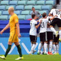 Alemania derrota 3-2 a Australia y lidera junto a Chile el grupo B de la Confederaciones