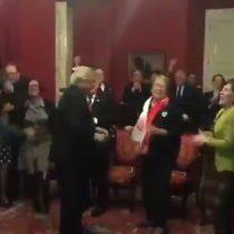 [VIDEO] La eufórica celebración en La Moneda de Bachelet y sus ministros tras paso a la final de La Roja en la Confederaciones
