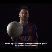 [VIDEO] Messi y Neymar se unen a causa por niños refugiados de Fundación F.C Barcelona y la ACNUR