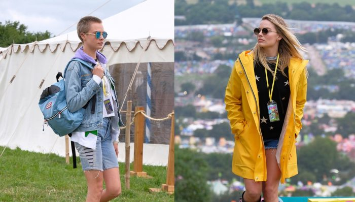Cara Delevingne y Margot Robbie se lucen con shorts vaqueros y botas de agua en festival Glastonbury