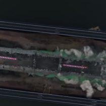 [VIDEO] Solo en segundos destruyen puente en China