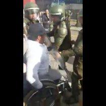 [VIDEO] Desmedida represión policial a grupo de personas con discapacidad en la Intendencia del Biobío