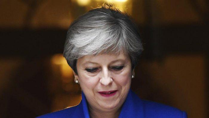 May ofrece discurso de victoria sobre el brexit poco convincente