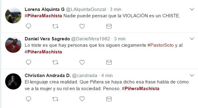 Sebastián Piñera es punto de críticas por deplorable comentario machista