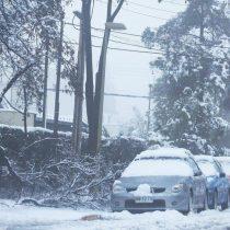 Las fotos de la inusual nevada en Santiago de Chile que provocó un muerto, dos heridos y más de 300.000 casas sin luz