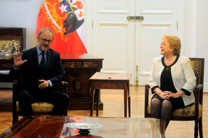 Los 60 minutos de Bernardo Larraín Matte con Bachelet en La Moneda