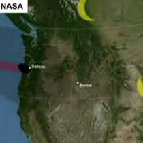 [VIDEO] Cuál será el recorrido de la sombra del eclipse total de sol que tiene loco a los Estados Unidos