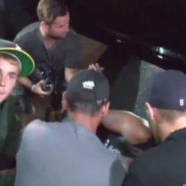 [VIDEO] Justin Bieber atropelló a un fotógrafo con su camioneta saliendo de la iglesia