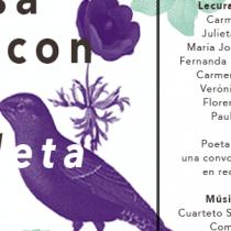 """Homenaje poético del FIP Santiago """"Otra cosa es con Violeta"""" en Museo Violeta Parra"""
