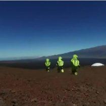 [VIDEO] Los científicos que se pasean por Hawái en traje espacial para llegar a Marte