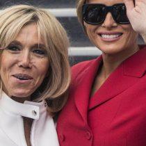 Melania Trump y Brigitte Macron se reparten el 'chic' francés