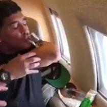 [VIDEO] El registro de Maradona tomando