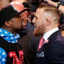 [VIDEO] El cara a cara entre McGregor que promete ganar en el cuarto asalto y Mayweather que