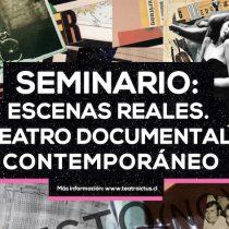 """Seminario """"Escenas Reales. Teatro documental contemporáneo"""" de ICEI y Teatro Ictus"""