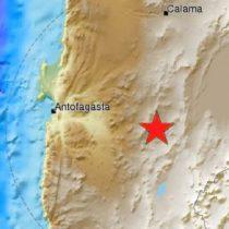 Sismo de mediana intensidad remece a la Región de Antofagasta