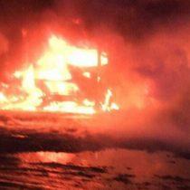 La Araucanía: desconocidos queman 18 camiones de la empresa Luchetti