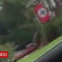 [VIDEO] La mujer que confrontó a su vecino por poner una bandera nazi afuera de su casa