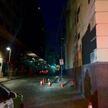 Trabajador fallece tras caer de andamio en centro de Santiago