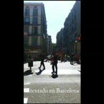 [VIDEO] Las imágenes captadas por un transeúnte tras el atentado en Barcelona