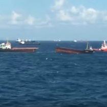[VIDEO] Buque de carga se parte por la mitad en las costas noroeste de Turquía