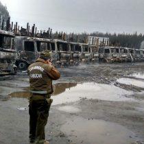 Corma condena nueva quema de camiones y acusa