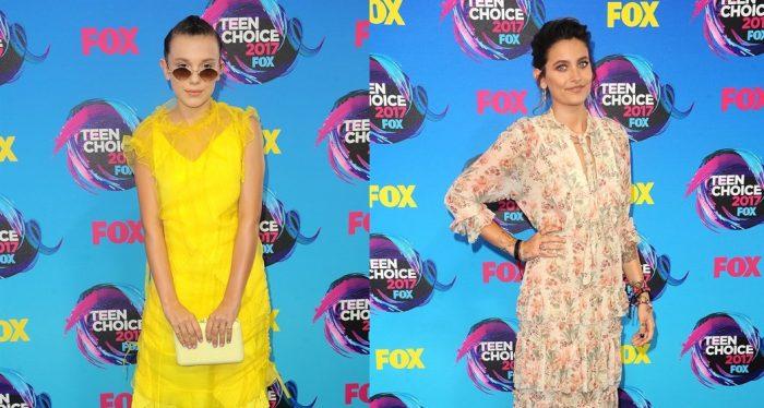 Estilo boho de Millie Bobby Brown y Paris Jackson en Teen Choice Awards ¿Cuál te gusta más?